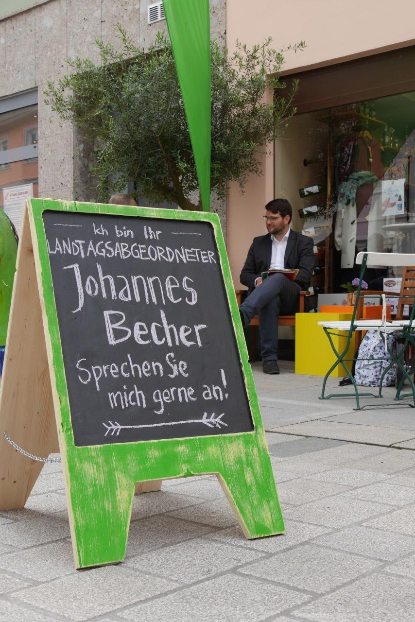 Unser GRÜNER Landtagsabgeordneter Johannes Becher aus Moosburg kommt nach Eching